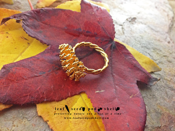 Pine Cone Ring - Gold - Cat No 749