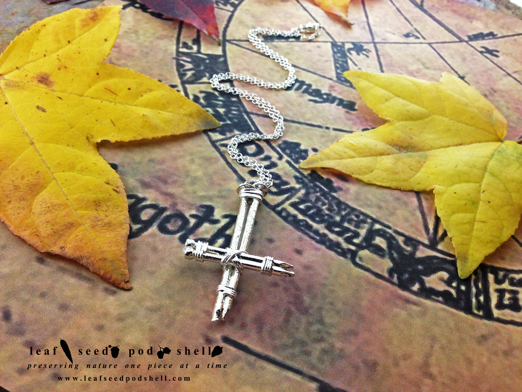 Inverted Nail Cross - Silver - Cat No 751