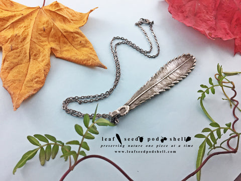 Banksia Leaf Pendant - Antique Silver - Cat No 823