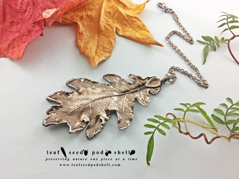 Oak Leaf Pendant - Antique Silver - Cat No 824