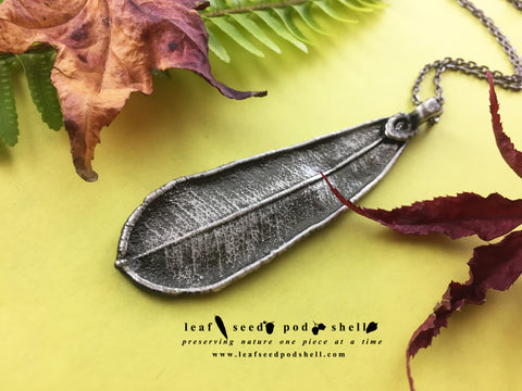Banksia Leaf Pendant - Antique Silver - Cat No 825