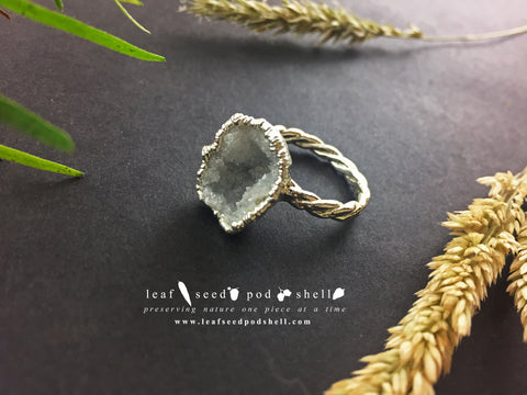 Geode Ring - Silver - Cat No 839