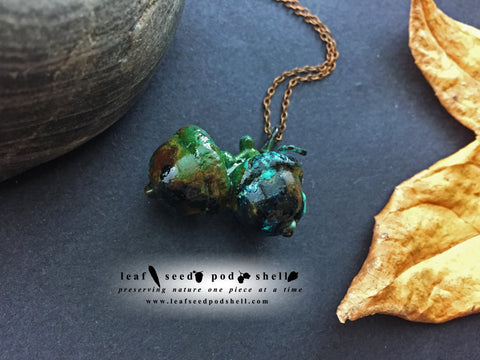 Acorn Pendant - Copper Patina - Cat No 880