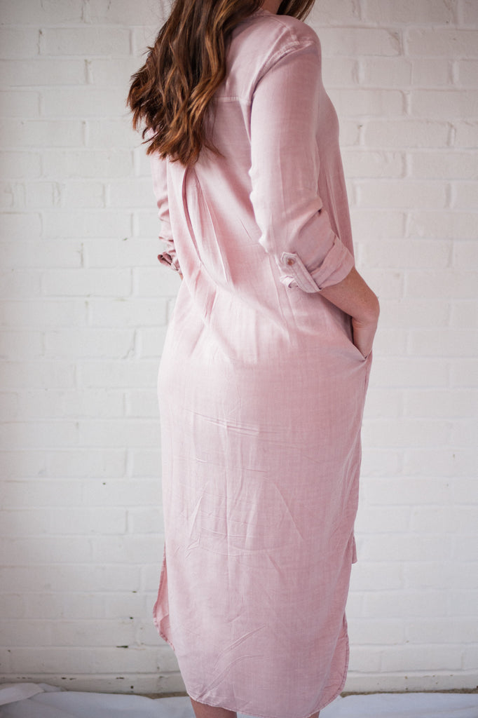 Rose Petal Shirtdress