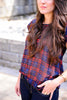 Short Sleeve Plaid Top
