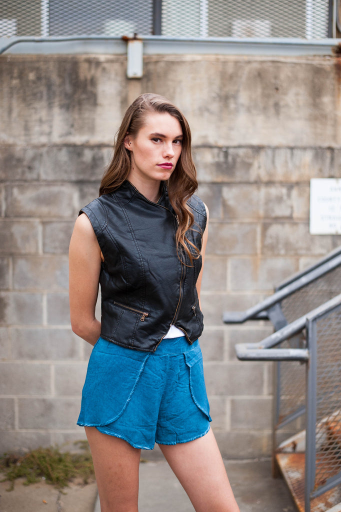 Ellie Faux Leather Vest