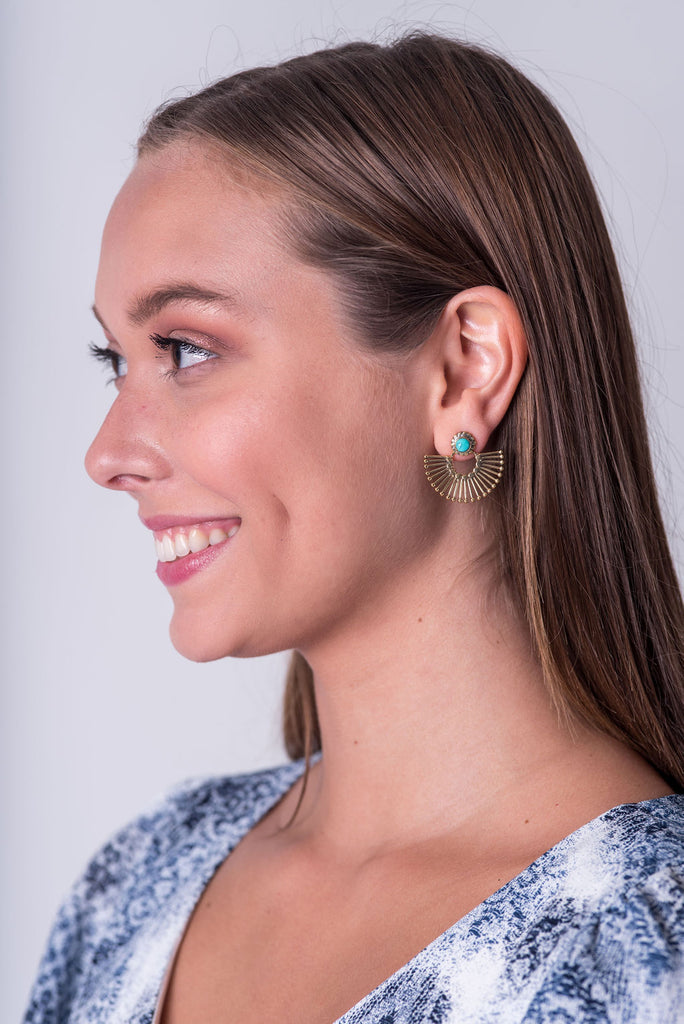 Mina Turquoise Stud Earrings