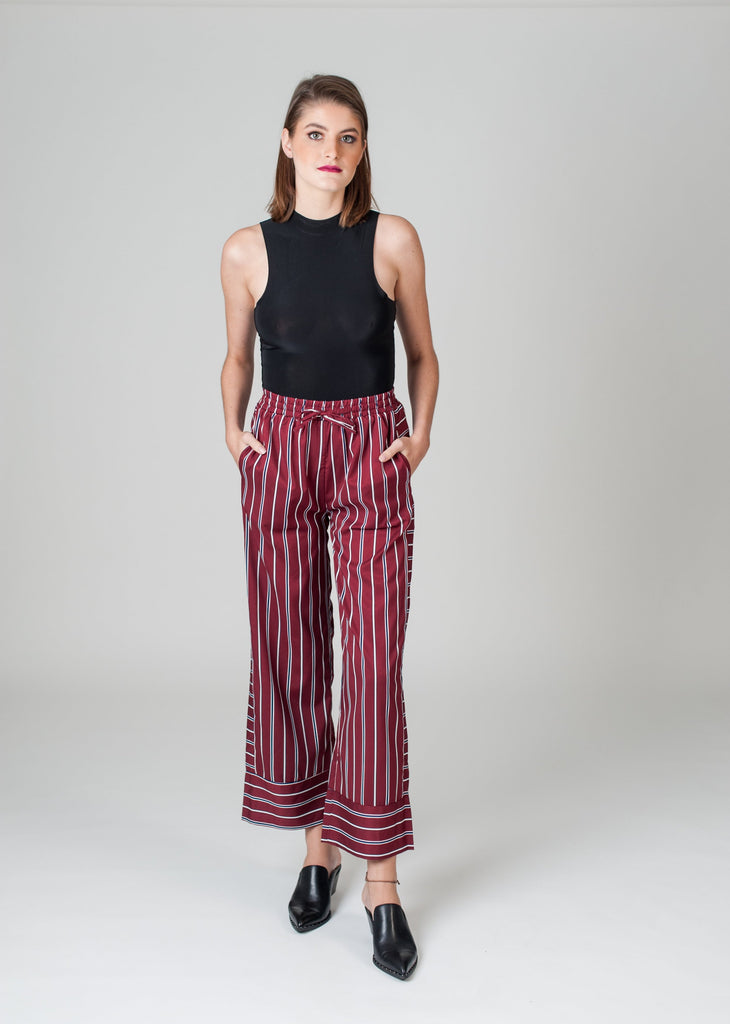 Cropped Satin Pants