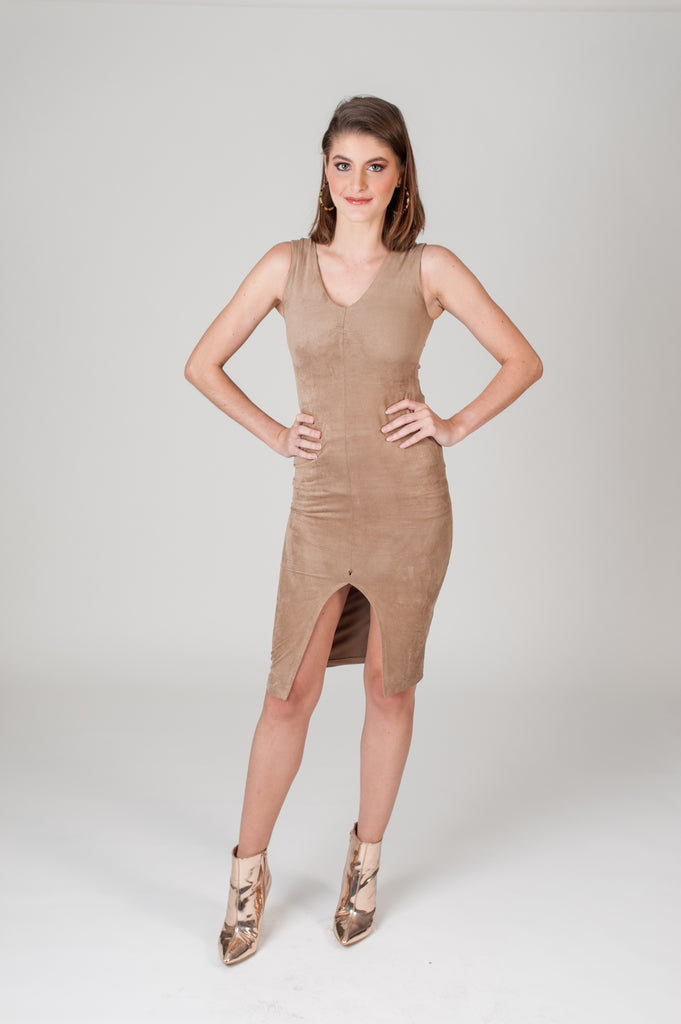 Suede Sleeveless Dress