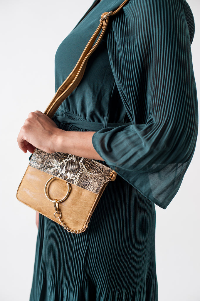 Snakeskin Mini Crossbody