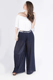 Pleated Wide Leg Pant
