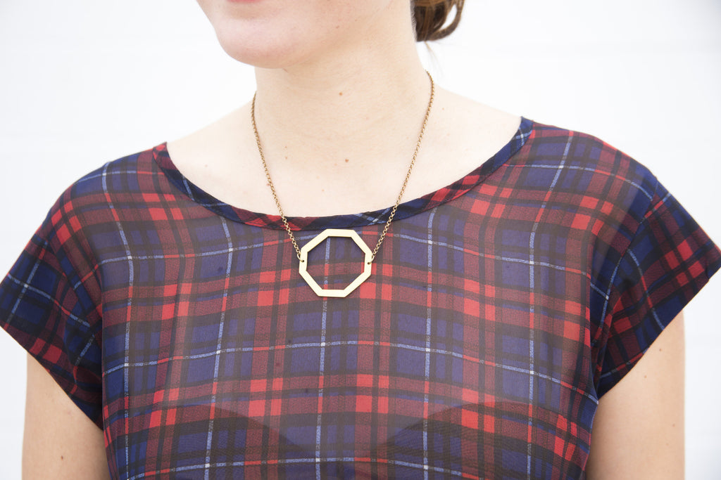 Open Octagon Necklace