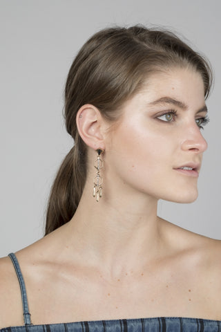 Triangle Stacked Earrings