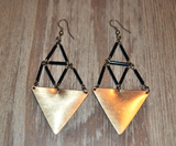 Beaded Triangle Earrings