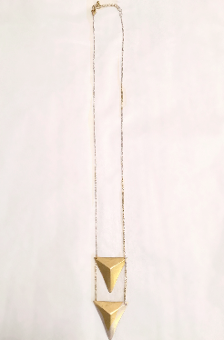 Stacked Triangle Necklace