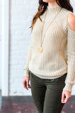 Cozy Cold Shoulder Sweater