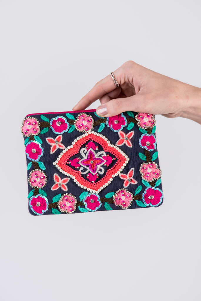 Boho Jeweled Pouch