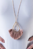 Teardrop Fan Necklace