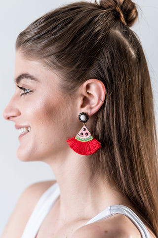 Thread Door Knocker Earrings