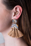 Arch & Tassel Earrings
