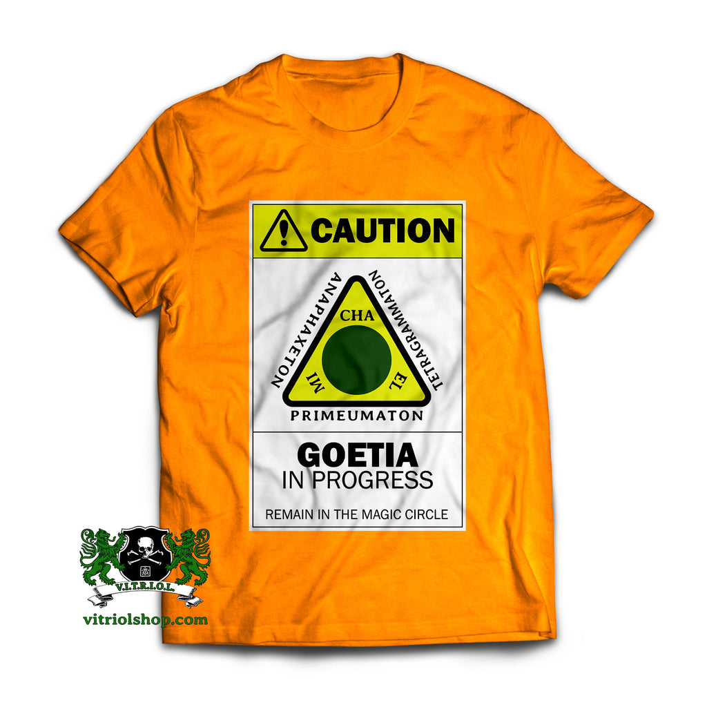 Caution: Goetia T-Shirt - Tennessee Orange