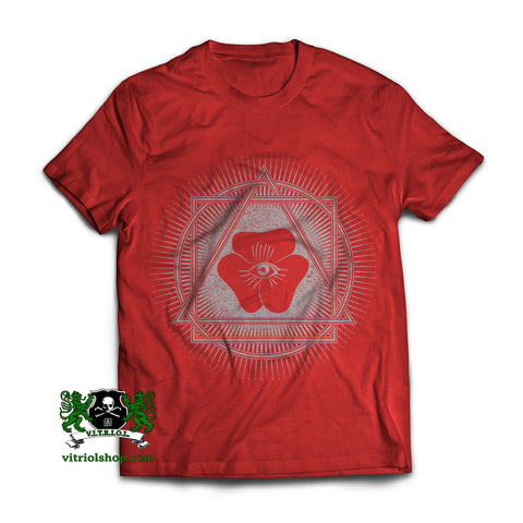 Squared Circle T-Shirt - True Red