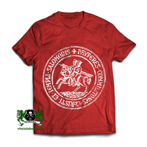 Templar Seal T-Shirt - True Red