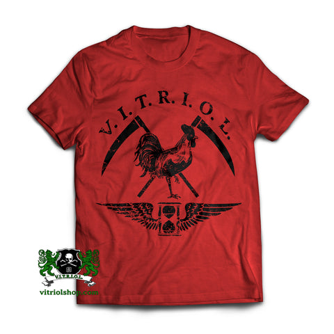 VITRIOL Rooster T-Shirt - True Red