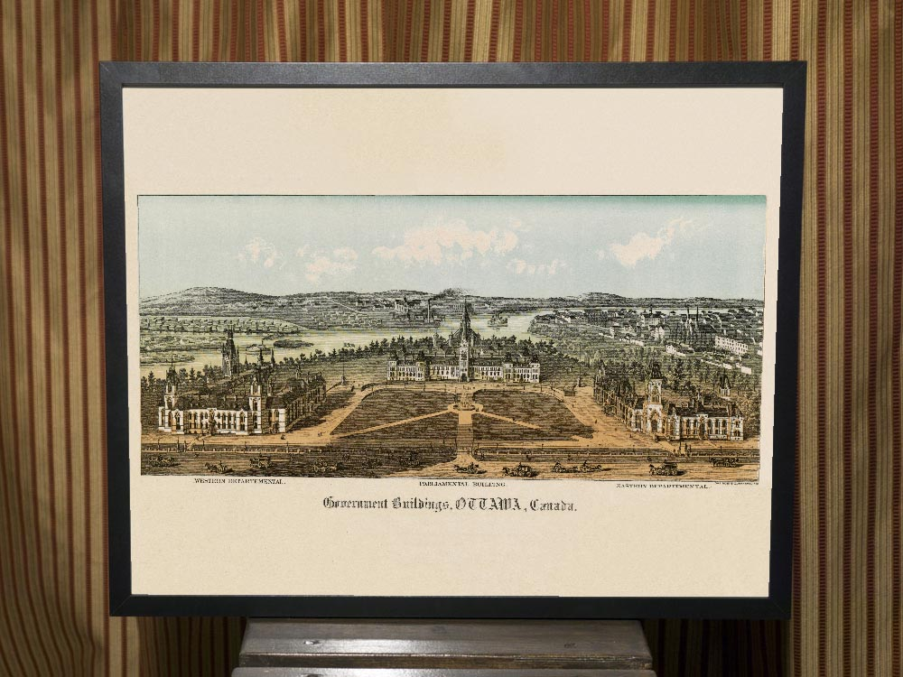 1865 Lithograph of Parliament Buildings