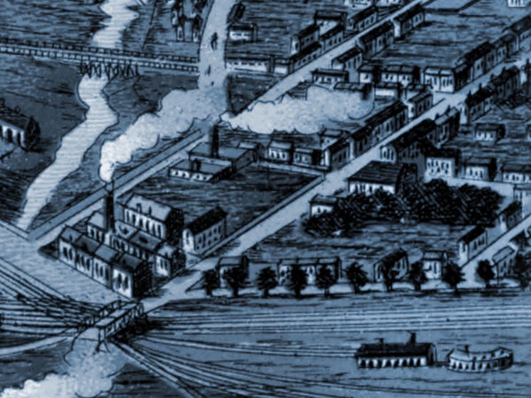 1870 Birds Eye View of Toronto