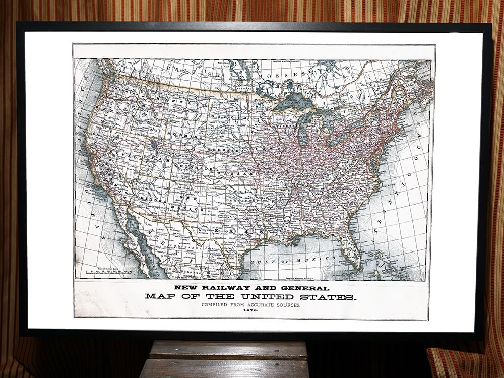 1879 Map of USA