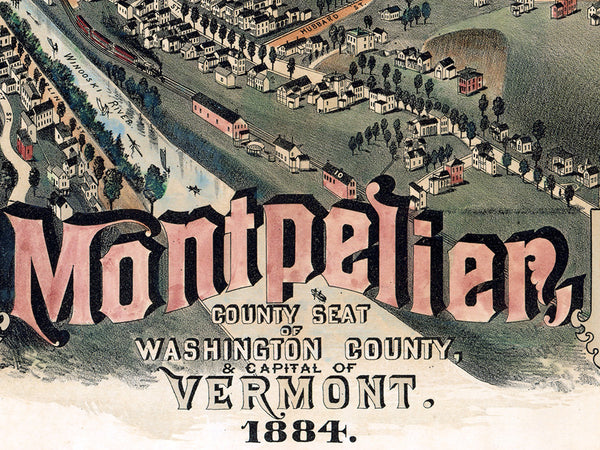 1884 Map of Montpelier
