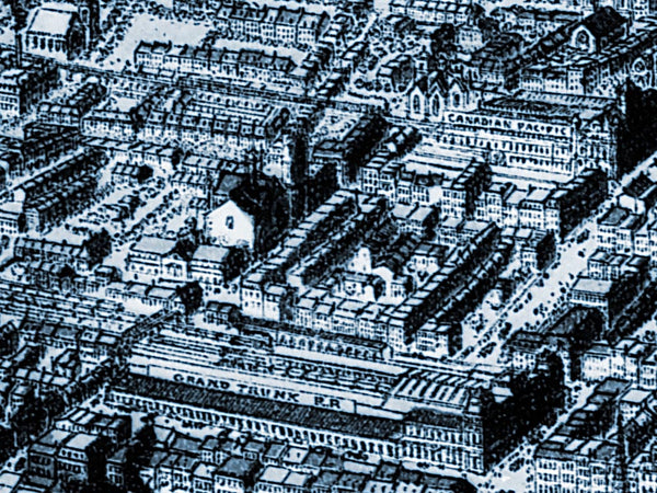 1889 Birds Eye View of Montreal