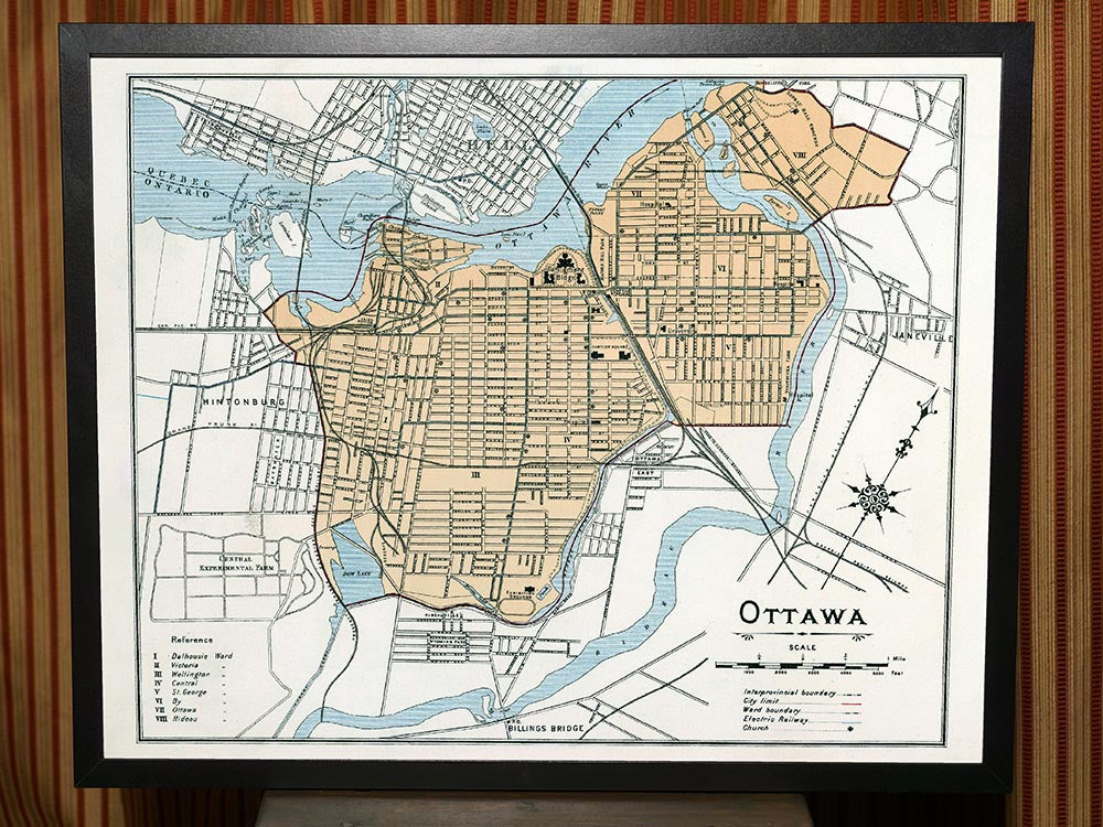 1906 Map of Ottawa