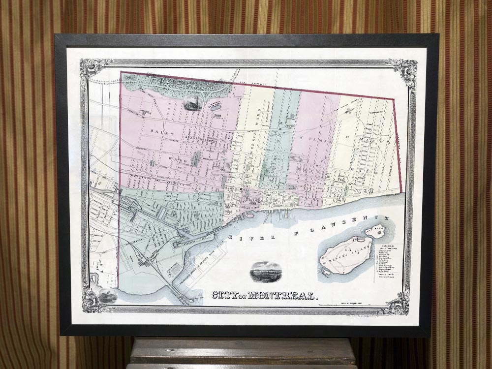 1863 Map of Montreal