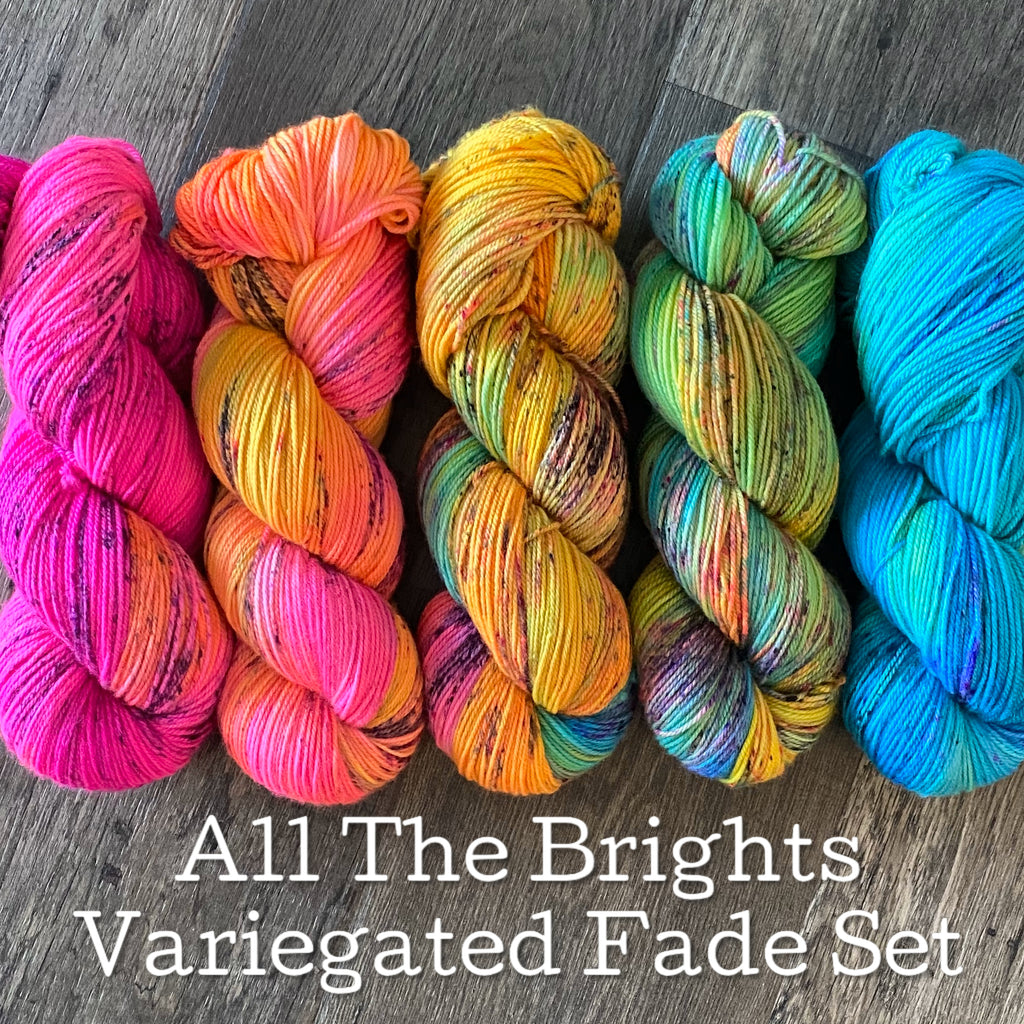 All the Brights Variegated Fade Set