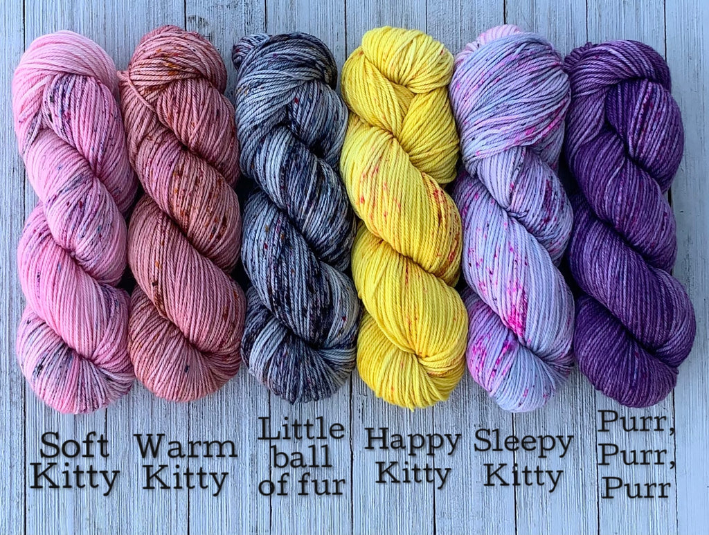 Soft Kitty Song yarns on Aphrodisiac DK with Cashmere