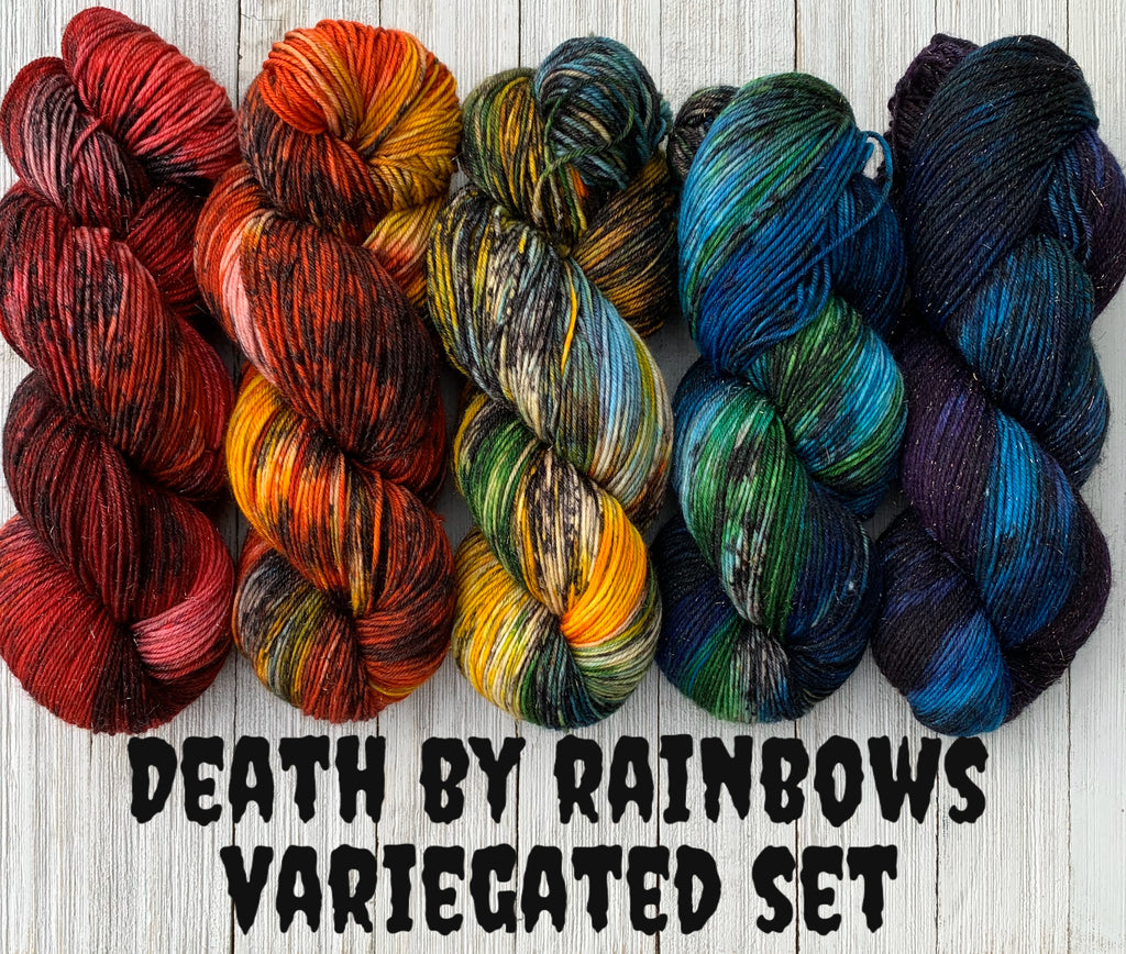 Death by Rainbows variegated skein set