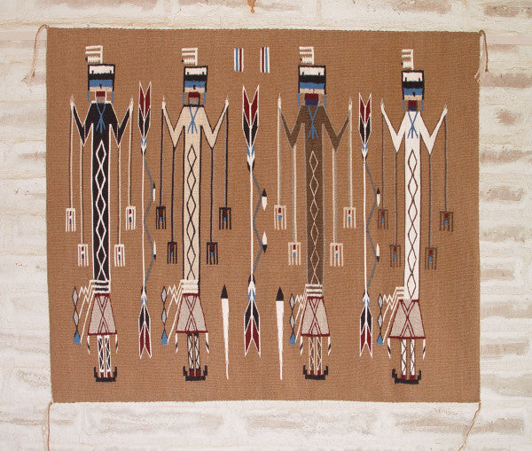 NAVAJO SANDPAINTING WEAVING FINDS A NEW HOME