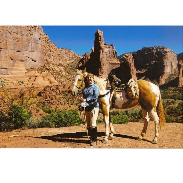 Collector rides the Navajo Reservation