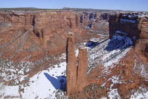 Spider Rock in Snow
