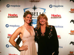 Gail Getzwiller (R) and daughter Jamie (L) at the Rebelle Rally Galla