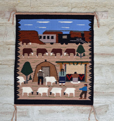 Navajo Lifestyle pictorial weavings