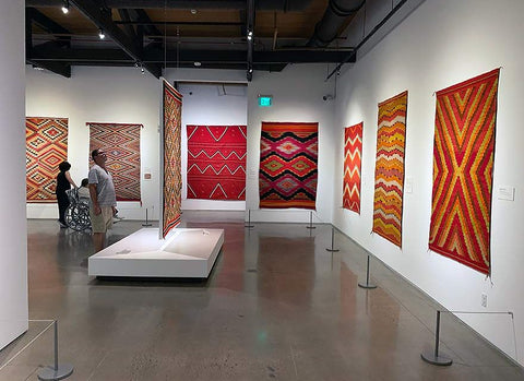 Heard Museum Color Riot exhibit American Indian Rugs and Blankets