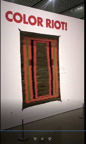 heard museum opening of color riot how color changed Navajo textiles