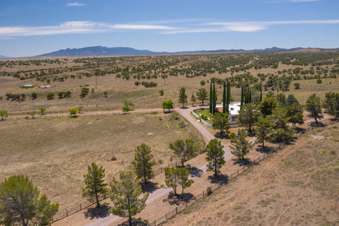 Arial view of the Nizhoni Ranch Gallery property
