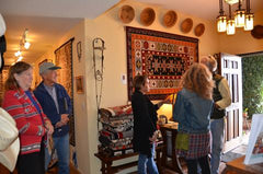 Collectors at the opening of the Master Weaving of the Navajo Collection exhibit at Nizhoni Ranch Gallery