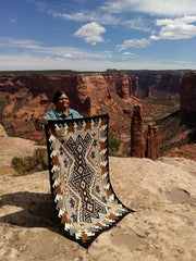 Navaho Rug Weaving Nizhoni Ranch Two Grey Hill