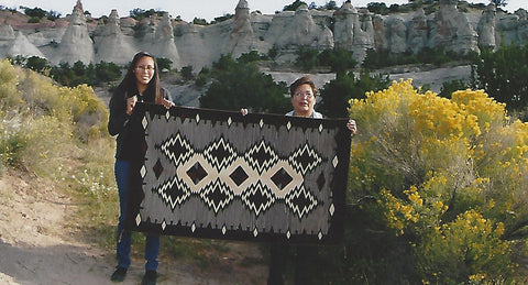 Frances Begay with her daughter Briana