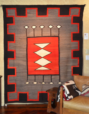 Vintage Transitional American Indian Rug